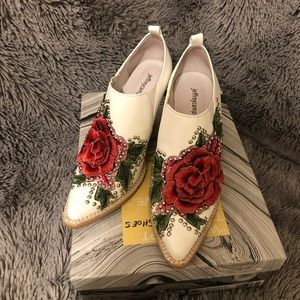 Jeffery Campbell embroidered boots